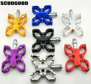 SG CNC Anodized Bearing Butterfly Bicycle Pedals